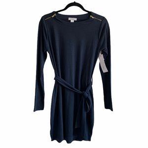 Magazine Navy Long Sleeve Soft Knit Dress